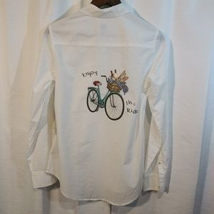 a new day Tops - A New Day/ 'Enjoy the Ride'Long sleeve button up/M